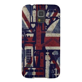 Grunge Retro Union Jack Love London Symbols Galaxy S5 Cases