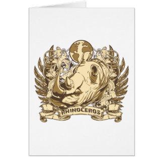 Grunge Rhinoceros Card
