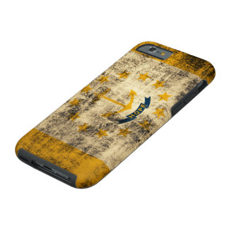 Grunge Rhode Island Flag Tough iPhone 6 Case