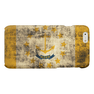 Grunge Rhode Island Flag Glossy iPhone 6 Case