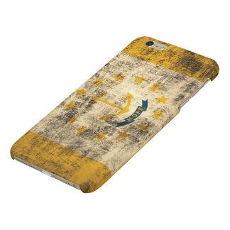 Grunge Rhode Island Flag Matte iPhone 6 Plus Case