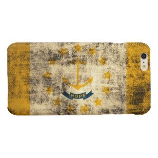 Grunge Rhode Island Flag Glossy iPhone 6 Plus Case