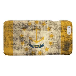 Grunge Rhode Island Flag Matte iPhone 6 Case