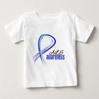 Grunge Ribbon ALS Awareness T Shirt