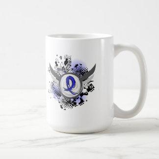 Grunge Ribbon and Wings Dysautonomia Coffee Mug