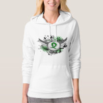 Grunge Ribbon and Wings Gastroparesis Hoodie