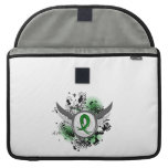 Grunge Ribbon and Wings Gastroparesis Sleeve For MacBooks