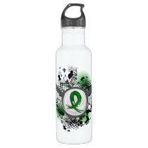 Grunge Ribbon and Wings Gastroparesis Stainless Steel Water Bottle