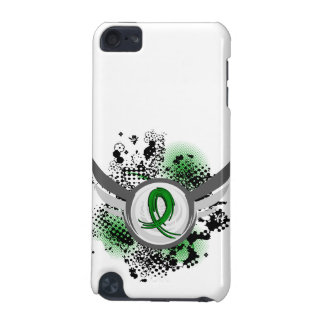 Grunge Ribbon and Wings Traumatic Brain Injury TBI iPod Touch 5G Covers
