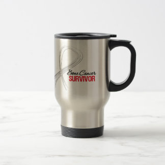 Grunge Ribbon Bone Cancer Survivor Stainless Steel Travel Mug