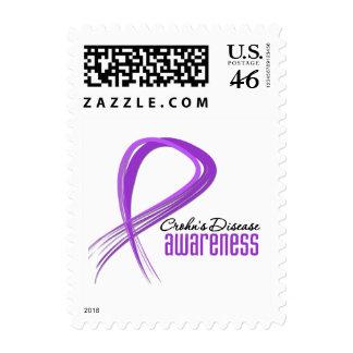 Grunge Ribbon Crohn s Disease Awareness Stamps