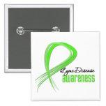 Grunge Ribbon Lyme Disease Awareness Pins