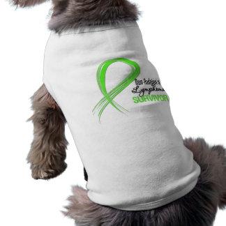 Grunge Ribbon Non-Hodgkin s Lymphoma Survivor Dog Clothes