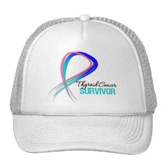 Grunge Ribbon Thyroid Cancer Survivor Hats
