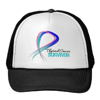Grunge Ribbon Thyroid Cancer Survivor Hat