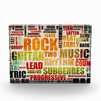 Grunge Rock and Roll Music Poster Art Background Acrylic Award
