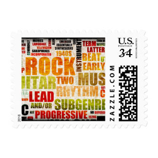 Grunge Rock and Roll Music Poster Art Background Postage
