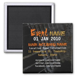 Grunge Rock Event Promo Magnet