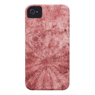 Grunge rojo del resplandor solar iPhone 4 Case-Mate protector