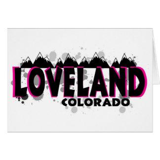 Grunge rosado de neón Loveland Colorado Tarjeta De Felicitación