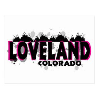Grunge rosado de neón Loveland Colorado Tarjetas Postales