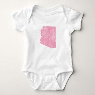 Grunge rosado del vintage de Arizona Body Para Bebé