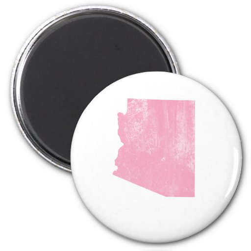 Grunge rosado del vintage de Arizona Imán Redondo 5 Cm