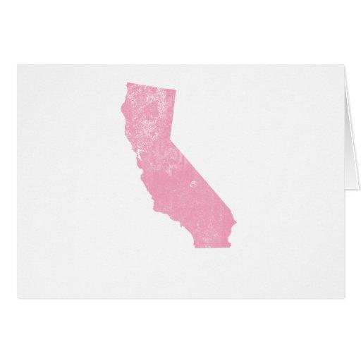 Grunge rosado del vintage de California Felicitacion