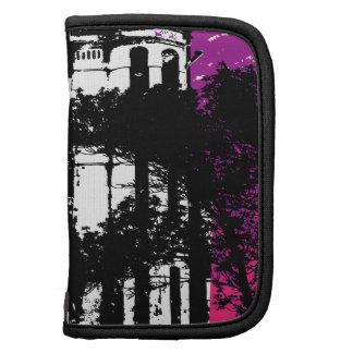 Grunge rosado y púrpura de la arquitectura organizadores
