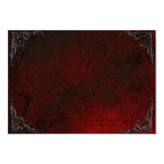 Grunge Rose Damask Gothic Note Card