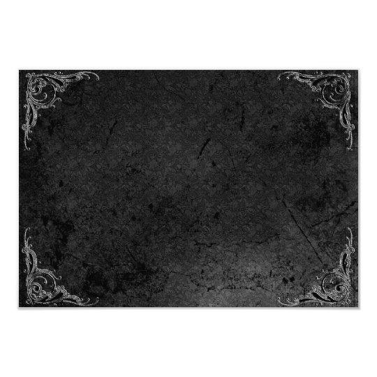 Grunge Rose Damask Gothic Note Card