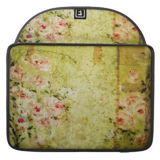 Grunge Rose Wallpaper MacBook Rickshaw Flap Sleeve