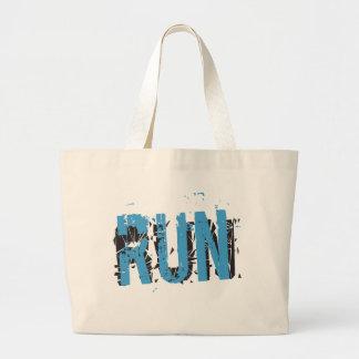 Grunge RUN Large Tote Bag