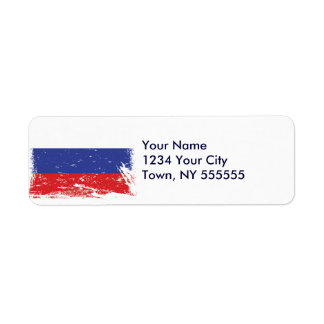 Grunge Russia Flag Label