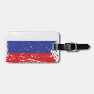 Grunge Russia Flag Luggage Tag