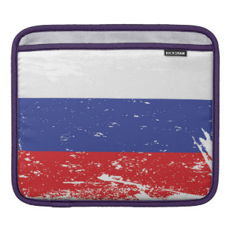Grunge Russia Flag Sleeve For iPads