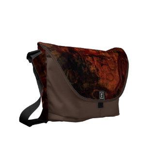 Grunge Rust Black Brown Messenger Bag