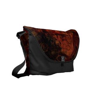 Grunge Rust Black Rickshaw Messenger Bag
