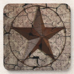 Grunge rustic Texas star western country art Coaster