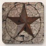 Grunge rustic Texas star western country art Beverage Coasters