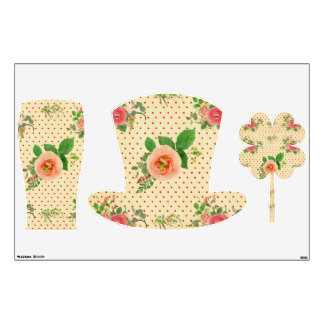 Grunge,rustic,vintage,floral,coral,victorian,girly Wall Skin