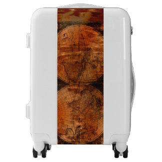Grunge Rustic Vintage Old World Map Luggage