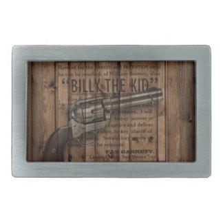 grunge rustic western billy the kid reward gun belt buckles