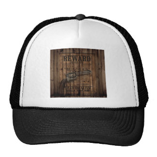 grunge rustic western billy the kid reward gun trucker hat