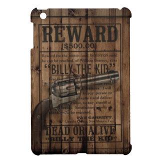 grunge rustic western billy the kid reward gun iPad mini covers
