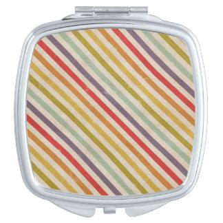 Grunge rústico del arco iris del vintage colorido espejos compactos