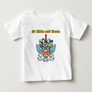 Grunge Saint Kitts and Nevis coat of arms designs Baby T-Shirt