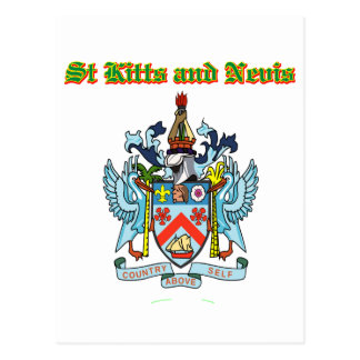 Grunge Saint Kitts and Nevis coat of arms designs Postcard