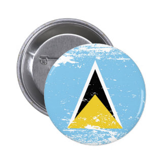 Grunge Saint Lucia flag Button