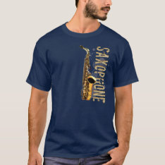 Grunge Saxophone T-shirt at Zazzle